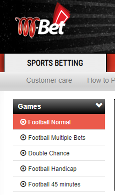 Mbet Normal Betting
